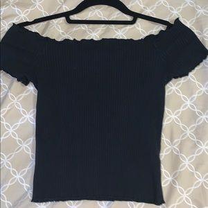 Black Zara Ruffle top